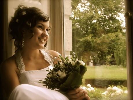 Bruid Anita op Kasteel Vaesharteld