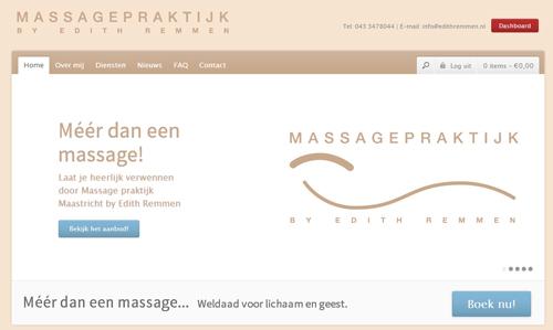 NIeuwe website Massage-praktijk Maastricht by Edith Remmen